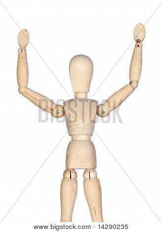 Wooden Mannequin With Extended Arms