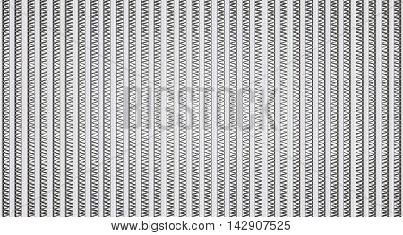 Honeycomb of heat exchanger (radiator) close-up. Isolated. 3D Illustration