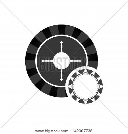 roulette ip chcasino vegas icon. Flat and Isolated design. Vector illustration