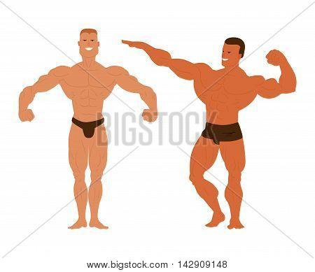 Fitness model bodybuilder, posing, bodybuilding style man.