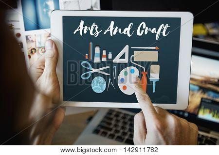 Arts and Craft Artistic Artist Design Ideas Concept