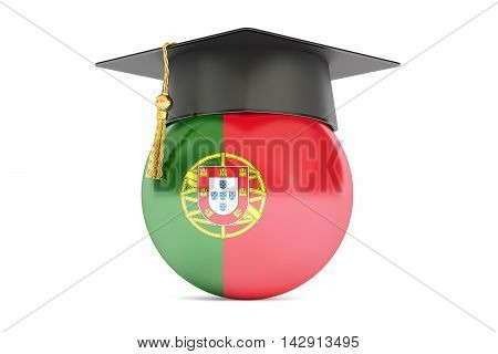education and study in Portugal concept 3D rendering isolated on white background