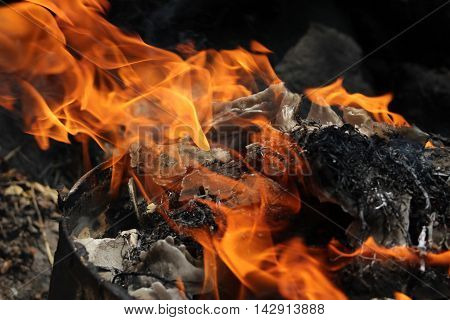 For some people the fire represents destruction , but for others it represents beauty, because if we look closely fire is a living creature that adapts different ways , where people can interpret what they feel.