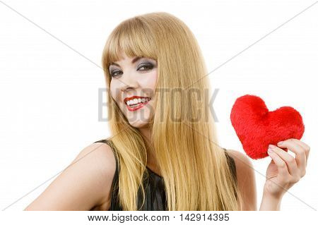 Young Lady With Red Heart.