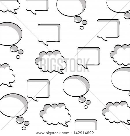 speech bubbles set isolated icon vector illustration design
