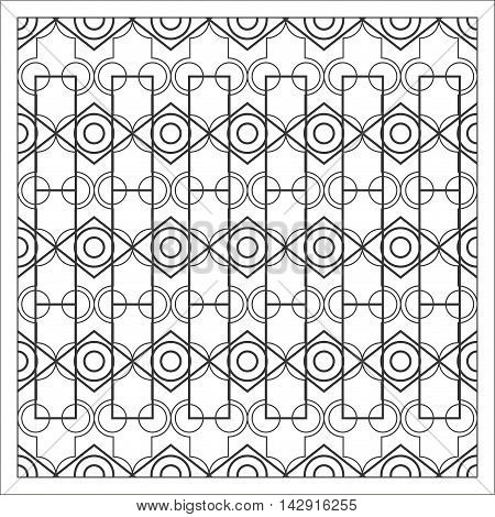flat design geometrical pattern background vector illustration