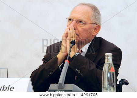 Frg Minister Of Finance Wolfgang Schaeuble