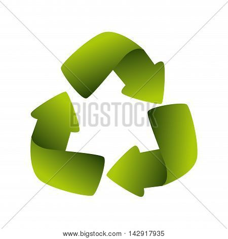 recycling symbol go green recycled world global ecology vector illustration isolated