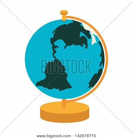 globe map world object school education geography vector illustration isolated