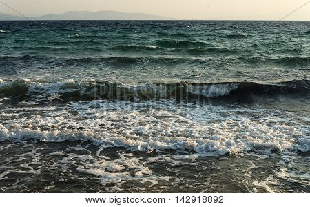 view Adriatic sea wave sea on the summer
