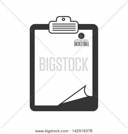 basketball table paper sport move team direction vector illustration isolated