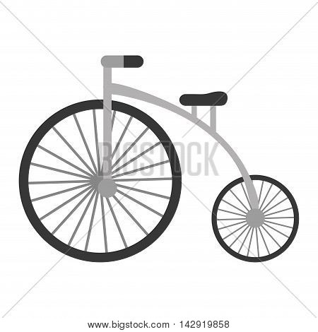 flat design retro bicycle icon vector illustration