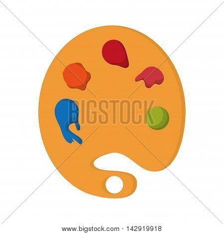 flat design paint pallet icon vector illustration