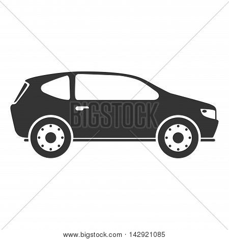 car automobile auto transport vehicle side hatchback icon vector illustration isolated