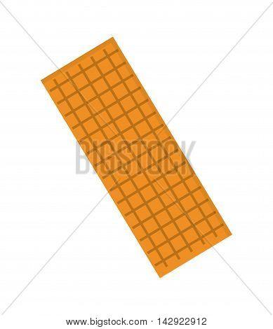 flat design biscuit cracket icon vector illustration