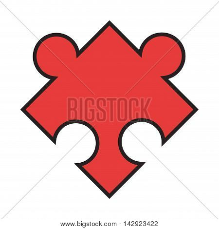 flat design puzzle piece icon vector illustration