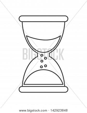 flat design single hourglass icon vector illustration