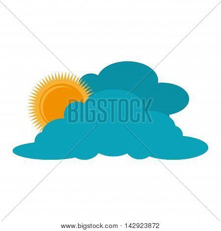 sunny cloud sun weather sky clear sunrise vector illustration isolated