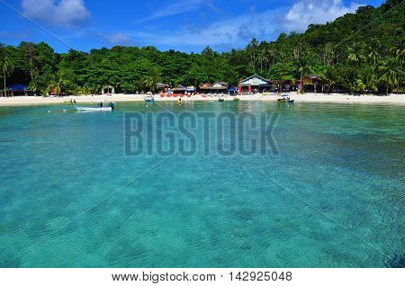 Harbor view from Perhentian Kecil island, Malaysia
