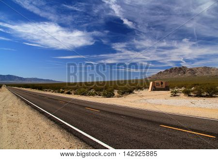 Beautiful California landscape in the Mojave National Preserve