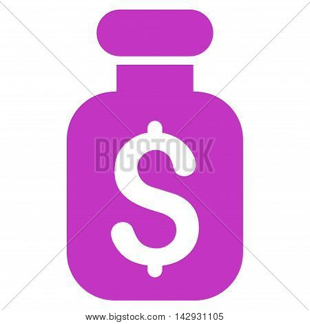 Business Remedy icon. Vector style is flat iconic symbol with rounded angles, violet color, white background.