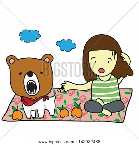 I love to go to picnic with my dog