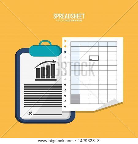 Spreadsheet document infographic icon. Colorful design. Vector illustration