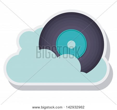 retro music vinyl isolated icon vector illustration design