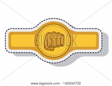 belt boxing isolated icon vector illustration design