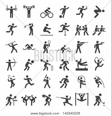Group of sport icons set. Vector illustration.