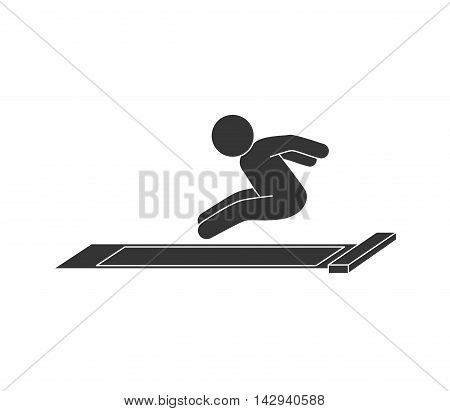 jump long high man jumper sport training  vector illustration isolated