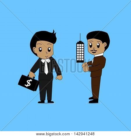 get, customer, want, establishing, law, merchant, need, sell, buy,cartoon, agent, businessman, dealer, communication