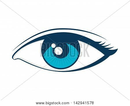 eye see view look vision girl optic eyelashes vector illustration isolated