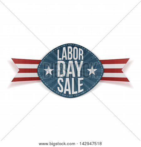 Labor Day Sale realistic festive Banner. Vector Illustration
