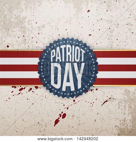 Patriot Day paper festive Tag. Vector Illustration