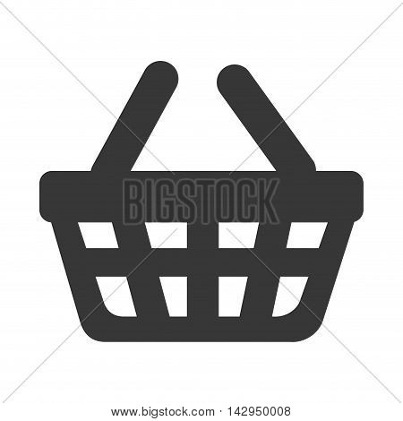 basket supermarket handles carry bucket shopper store vector illustration isolated