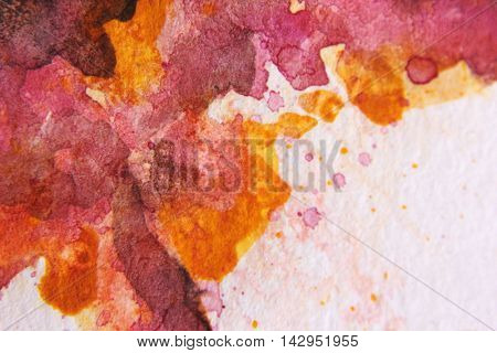 Burgundy and Yellow Watercolour Textures 3