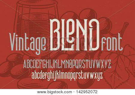 Retro condensed font named
