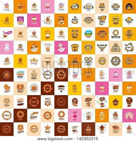 logo design template bread. Vector illustration of icon