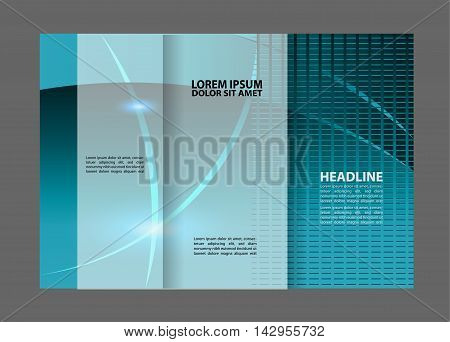 brochure design template blue colored stripes transparent abstract
