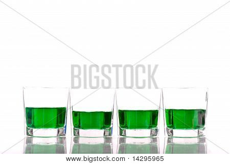 Green Liquor Shots For St. Patrick's Day Concepts