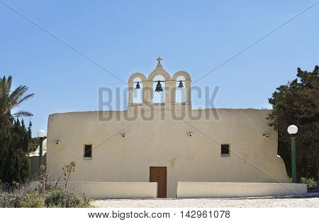 Little church in Comino island, Gozo, Malta. Catholic church in Malta