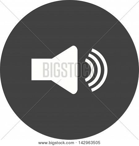 Volume, speaker, sound icon vector image. Can also be used for music. Suitable for mobile apps, web apps and print media.