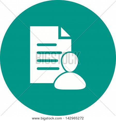 Data, customer, resources icon vector image. Can also be used for customer services. Suitable for use on web apps, mobile apps and print media.