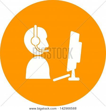 Agent, call, business icon vector image. Can also be used for customer services. Suitable for web apps, mobile apps and print media.