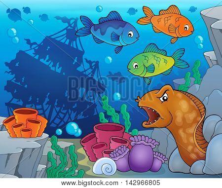 Underwater ocean fauna theme 9 - eps10 vector illustration.