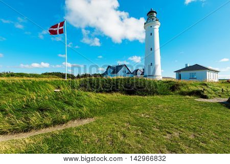 lighthouse in nature, landscape of Denmark