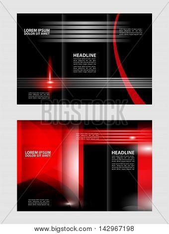 Tri-fold Brochure Beauty Salon and Catalog Vector Design Template