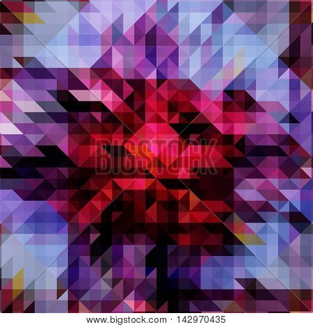 Abstract texture in polygonal style, red and blue palette vector illustration for background, blue and burgundy red geometric pattern
