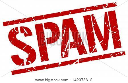 spam stamp. red grunge square isolated sign